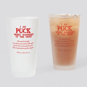 Puck (red) Drinking Glass