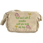 Paradise with my dog Messenger Bag