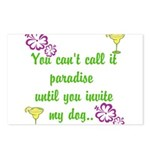 Paradise with my dog Postcards (Package of 8)