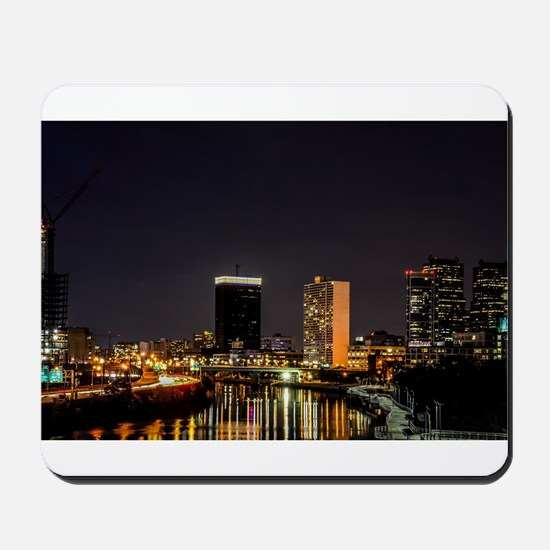 Philadelphia at night with illumination, Mousepad