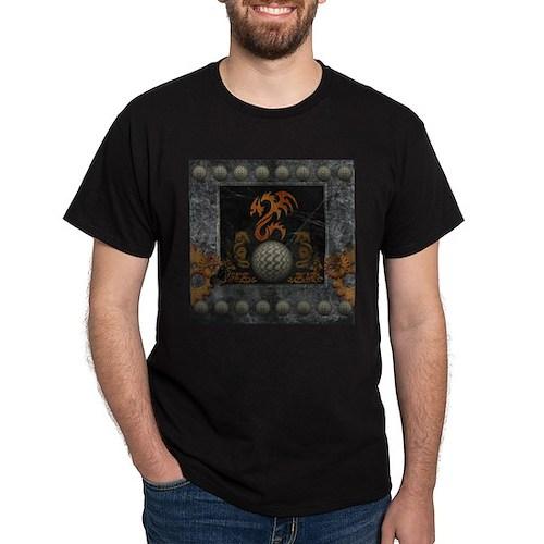 Awesome tribal dragon made of metal T-Shirt