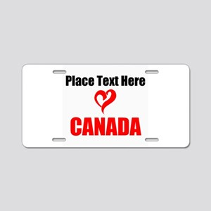 Loves Canada Aluminum License Plate