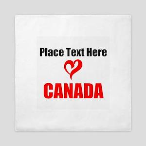Loves Canada Queen Duvet