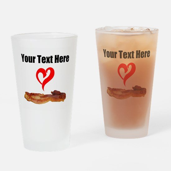 Loves Bacon Drinking Glass