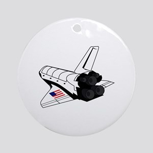 Space Shuttle Round Ornament