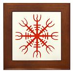 Red Aegishjalmur Framed Tile