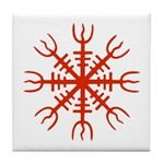 Red Aegishjalmur Tile Coaster