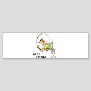Gone Fishin! Bumper Sticker