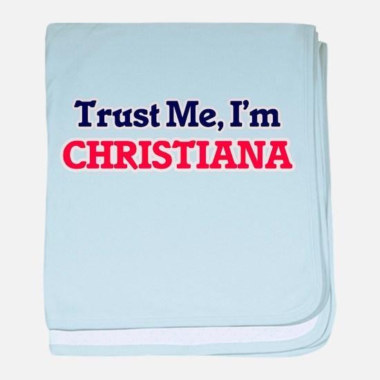 Trust Me, I'm Christiana baby blanket