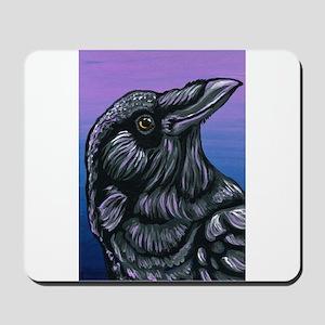 Purple Crow Raven Mousepad