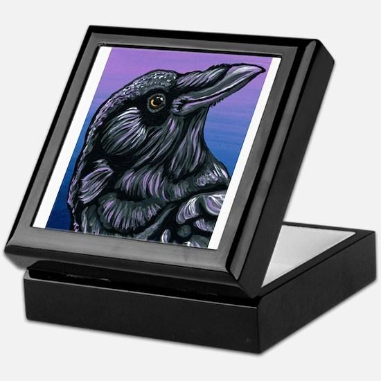 Purple Crow Raven Keepsake Box