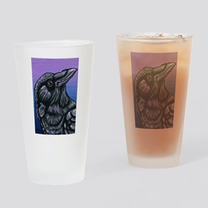 Purple Crow Raven Drinking Glass