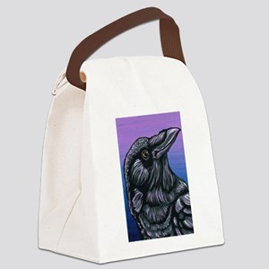 Purple Crow Raven Canvas Lunch Bag