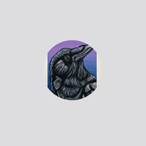 Purple Crow Raven Mini Button