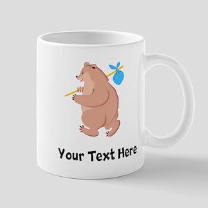 Bear Hitchhiking (Custom) Mugs