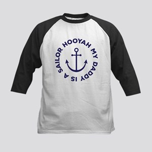 Navy My Daddy Is A Sailor Baseball Jersey