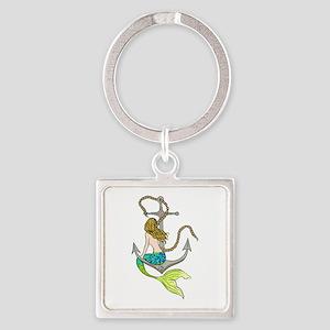 Mermaid On Anchor Keychains