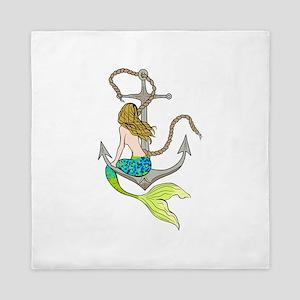 Mermaid On Anchor Queen Duvet
