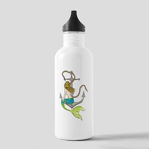 Mermaid On Anchor Water Bottle