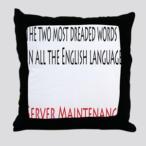 Server Maintenance Throw Pillow