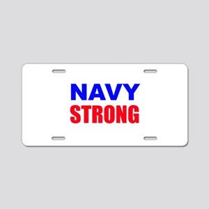 Navy Strong Aluminum License Plate