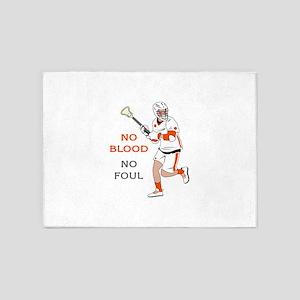 No Blood No Foul 5'x7'Area Rug
