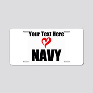 Loves Navy Aluminum License Plate