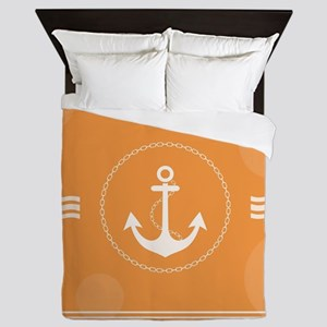 Beautiful Modern Nautical Design Queen Duvet