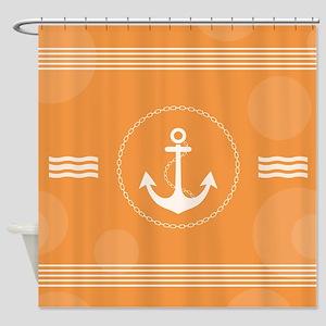 Beautiful Modern Nautical Design Shower Curtain