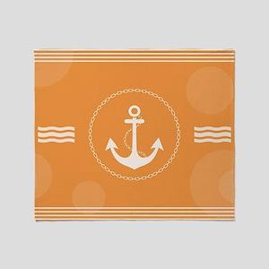 Beautiful Modern Nautical Design Throw Blanket