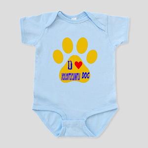 I Love Xoloitzcuintli Dog Infant Bodysuit
