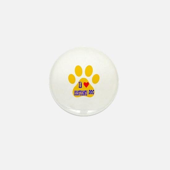 I Love Xoloitzcuintli Dog Mini Button