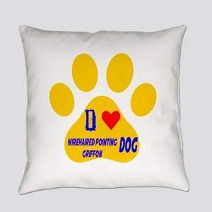 I Love Wirehaired Pointing Griffon Everyday Pillow