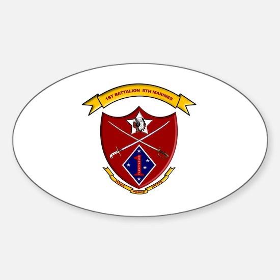 Cute 1st marines Sticker (Oval)