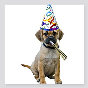 """Puggle Party Square Car Magnet 3"""" x 3"""""""