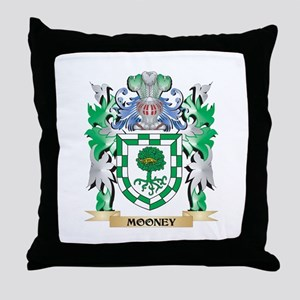 Mooney Coat of Arms - Family Crest Throw Pillow