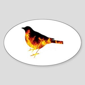 Berning Bird Sticker