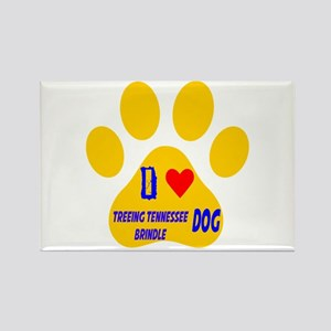 I Love Treeing Tennessee Brindle Rectangle Magnet