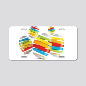 Easter egg abstract Aluminum License Plate