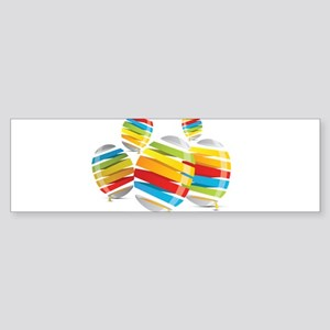Easter egg abstract Bumper Sticker