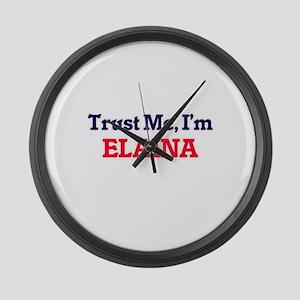 Trust Me, I'm Elaina Large Wall Clock