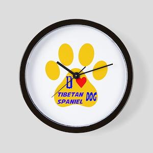 I Love Tibetan Spaniel Dog Wall Clock