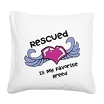 Rescued Square Canvas Pillow