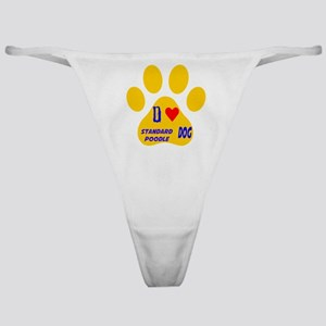 I Love Standard Poodle Dog Classic Thong