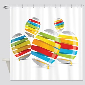 Easter egg abstract Shower Curtain