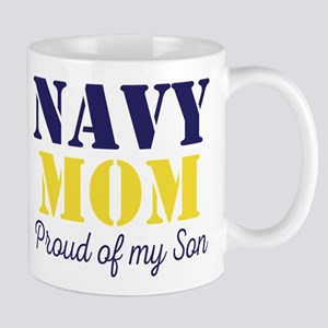 Navy Mom Proud of Son Mugs