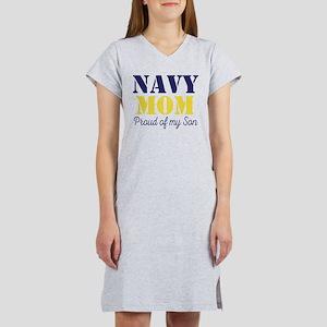 Navy Mom Proud of Son Women's Nightshirt