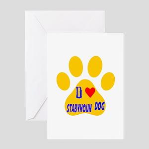 I Love Stabyhoun Dog Greeting Card