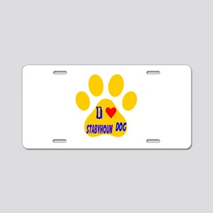 I Love Stabyhoun Dog Aluminum License Plate
