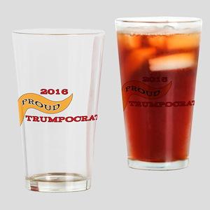 Proud Trumpocrat 2016 | GetYerGoat Drinking Glass